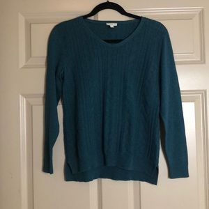 Petite teal Talbots sweater